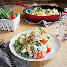 Creamy mascarpone and spinach linguine. Low-fat cream cheese and silky mascarpone combine to make a dreamy sauce for thisdish. Fresh lemon rind brightens up the flavor profile.Serve withgreen beansfor a simple side tothisdelicious meal.