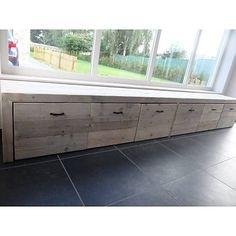 PURE wood design Opbergbank steigerhout