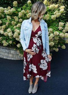 Fall Florals // pregnancy style // fall fashion #PregnancyFashion