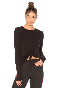 BEACH RIOT Cara Long Sleeve Top in Black | REVOLVE