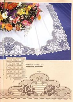 Home Decor Crochet Patterns Part 24 - Beautiful Crochet Patterns and Knitting Patterns Filet Crochet Charts, Crochet Motifs, Crochet Borders, Crochet Doilies, Crochet Lace, Crochet Patterns, Lace Patterns, Beau Crochet, Irish Crochet