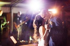 """First dance. Unique Table Decor. ocean view reception. clear tent, vintage florals, tall candles. wedding portraits. Professional Wedding Photos Miami, Florida Vizcaya Museum and Garden Wedding, Photos by PS Photography, Claire Pettibone dress """"Midnight,"""" Navy Blue, Slate Blue Tuxes, Vintage Chic Gatsby Style Wedding in April, Ryan and Jordan Nettleship, details on SkinnyGirlStandard Blog"""