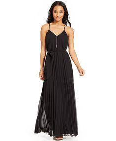 B Darlin Juniors' Sleeveless Pleated Maxi Dress - Juniors Dresses - Macy's