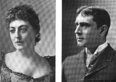 Georgie Drew Barrymore and Maurice Barrymore from 1896's Famous American Actors