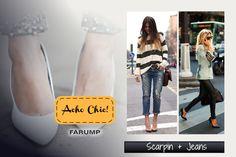Scarpin + Jeans é chic!