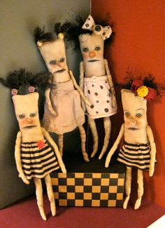 a weird art doll in polka dots weird dollbizarre от sandymastroni