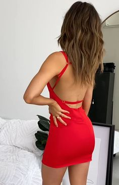 Modest Dresses Casual, Casual Party Dresses, Spring Dresses Casual, Short Dresses, Tight Dresses, Short Skirts, Red Hoco Dress, Hot Dress, Most Beautiful Dresses