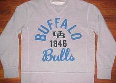 League Collegiate Wear NCAA Buffalo Bulls Est. 1846 Gray Sweatshirt Fleece M #LeagueCollegiateWear #BuffaloBulls