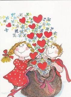Virpi Pekkala Friendship Day Date, Happy Friendship Day Images, Friendship Quotes Images, Friendship Wallpaper, Karla Gerard, Heart Illustration, Love Symbols, Heart Art, Whimsical Art