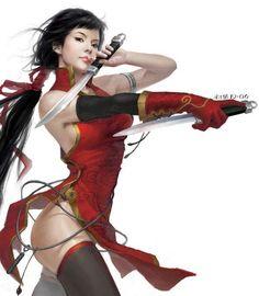 Red angell of revenge     Amazing Digital Art by Chinese artist Yang Qi.                                                                                                                                                                                 Mais