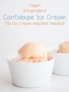 Vegan 2 Ingredient Cantaloupe Ice Cream | Elephantastic Vegan