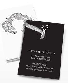 Hair Styles: hair styles on business card