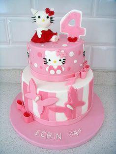 """""""Hello Kitty"""" Temalı Butik Doğumgünü Pastası.! Hello Kitty Birthday Cake.!"""