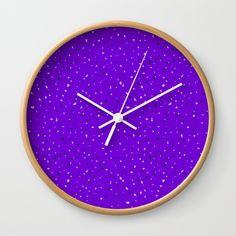 Speckles II: Purple Wall Clock #speckles #pattern #surface #purple #Photoshop #royal #regal #bright #shop #Society6 #product #spotty #splatter #mess #fun