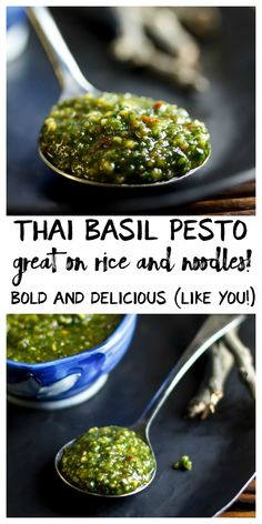 This easy Thai basil pesto is a healthy way to Thai-i-fy noodles, rice, tofu and veggies in a hurry. This one's for my Thai lovers. But before I even start talking Thai basil pesto, I feel mo…