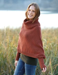 Book Woman Basics 11 Autumn / Winter   29: Woman Poncho   Terra brown
