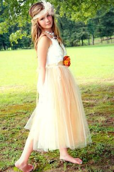 Junior Bridesmaid Tulle Dress by chachalouise on Etsy, $85.00