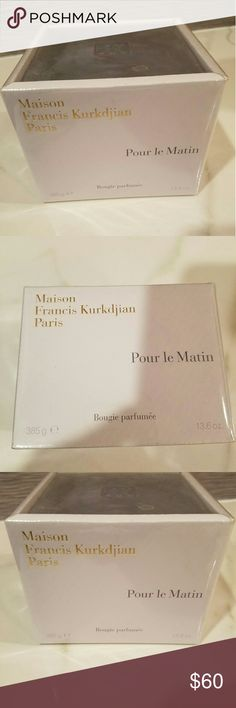 Maison Francis Kurkdjian Pour Le Matin Candle Maison Francis Kurkdjian Pour Le Matin Scented Candle 385g New Sealed In Box maison francis kurkdjian Other