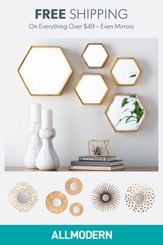 Sign up on AllModern and find mirrors for your home.Visit AllModern today to explore our selection and for exclusive access to deals for your modern home. Free shipping on orders over $49!