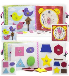 Quiet Book Busy Book Eco friendly educational fine by MiniMoms
