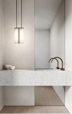 Bathroom Design Inspiration, Bathroom Interior Design, Home Interior, Interior Inspiration, Beautiful Bathrooms, Modern Bathroom, Minimal Bathroom, Laundry In Bathroom, Dream Home Design