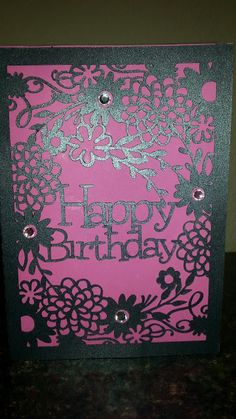 Silhouette Cameo Projects: Birthday Card