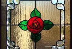 Stained Glass Dallas Glasgow Rose