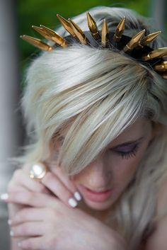 spikes, studs. (Spiked headband by Tamzin Lillywhite) www.lovelywanderlust.com