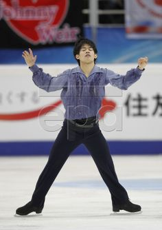Takahiko Kozuka of Japan his Men Short Program during the ISU Grand Prix of Figure Skating 2012/2013 Rostelecom Cup in Moscow, Russia, 09 No...