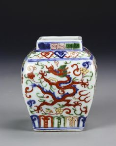 Polychrome Enameled Dragon Jar, Wanli Period