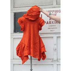 poppyfield ninja - orange linen hooded avant garde tunic | Flickr - Photo Sharing!