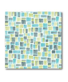 Turquoise & Lime Tile Canvas Art