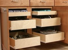 Custom sliding shelves for beautiful storage! Create more space in your bathroom with Stow-Away Sliding Shelves. Adding our completely customizable sliding shelves to cabinets allows you to take … Small House Renovation, Sliding Shelves, Stow Away, Organize, Drawers, Organization, Cabinet, Space, Storage