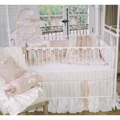 Best Price Blush Petal 3 Piece Crib Bedding Set By Blueberrie Kids Baby Girl Bedding Sets, Baby Girl Cribs, White Crib Bedding, Nursery Bedding Sets, Nursery Room, Bedroom, Nursery Ideas, Baby Girls, Nursery Decor