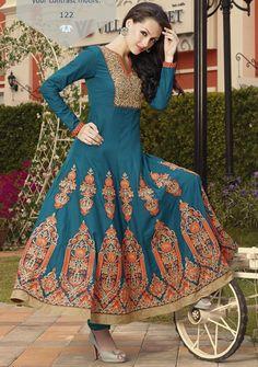 Gorgeous Blue Orange Cotton Satin Anarkali Salwar Kameez - See more at: http://www.voguify.com/Vedika-Anarkali-Salwar-Kameez/Gorgeous-Blue-Orange-Cotton-Satin-Anarkali-Salwar-Kameez--id-799029.html#sthash.lbD0I56v.dpuf