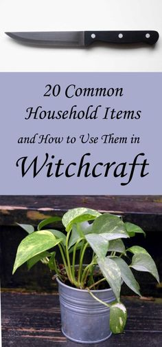 20 Common Household Items Used in Witchcraft - Moody Moons Green Witchcraft, Wiccan Spells, Wiccan Magic, Wiccan Witch, Magic Spells, Witchcraft Symbols, Wiccan Sabbats, Witchcraft Supplies, Witch Board