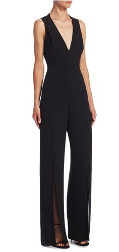 b7933b1f339 Halston Heritage black crepe jumpsuit - US 6  amp  4 available new with  labels