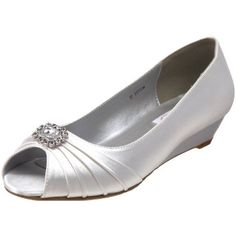 191c481ea3 Amazon.com: Dyeables Women's Anette Low-Heel Wedge: Shoes Silver Wedge Shoes