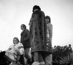 Keith Richards, Gram Parsons, Phil Kaufman, & Anita Pallenberg in Joshua Tree