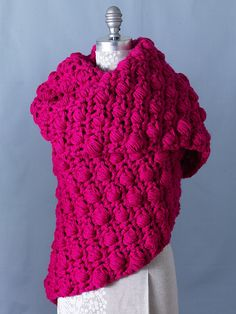 Ravelry: Bubblegum Scarf pattern by Lion Brand Yarn  Luv color and bumps