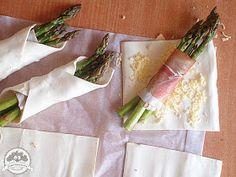 Ooomnomnomnom !: Zielone szparagi w cieście francuskim Tasty, Tableware, Kitchen, Dinnerware, Cooking, Tablewares, Kitchens, Dishes, Cuisine
