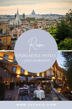 In Rom fühlt es sich an als würde man in eine fremde Welt entfliehen - La Dolce Vita, die ewige Stadt, Kulinarik und Lebenslust wird mit dieser Stadt verbunden. Gerade im Herbst macht ein Städtetrip besonders Spaß, perfekte Temperaturen um die Stadt zu erkunden und leere Gassen. Lassen Sie den Abend auf der Spanischen Treppe in Rom und mit einem typisch traditionellem Gericht wie Pizza oder Pasta ausklingen. Desktop Screenshot, Pizza, Italy, Movie Posters, Movies, Beautiful, Unique Hotels, Spanish, Explore