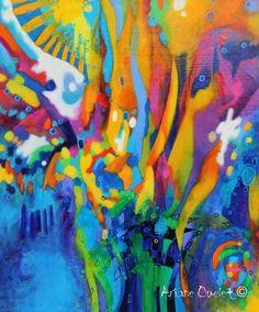 Ariane Ouellet   Carnaval, acrylique sur toile.
