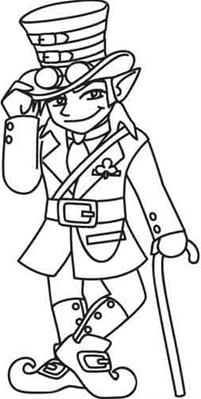Steampunk And Victorian Colouring Pages, Adult Coloring Pages, Coloring Sheets, Types Of Embroidery, Embroidery Designs, Leprechaun Pictures, March Bullet Journal, Craft Images, Urban Threads