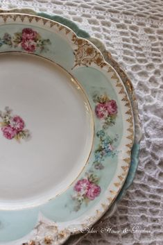 Aiken House & Gardens- beautiful plate for tea
