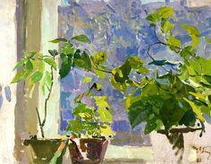 "bofransson:  "" Plants In The Window by Tatiana Yablonskaya  """