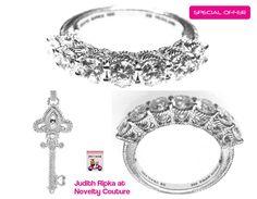 New JUDITH RIPKA 925 Silver Diamonique Ring, sz 8 - GREAT GIFT! #JudithRipka #Band