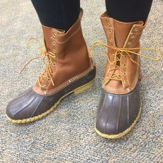 Bean boots Never worn!! Great condition bean boots that are new without tags. Most classic chestnut color, leather insides, the perfect boots! Absolutely gorgeous and backed up on the site for months!! L.L. Bean Shoes Winter & Rain Boots