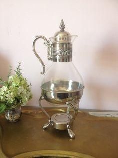 Vintage Silver Plate Carafe, Coffee Pot, Tea warmer, Elegant wedding, buffet, serving on Etsy, $25.00