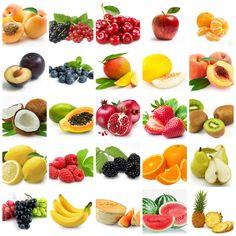 DIY / další poznávací kartičky (ovoce a zelenina) Healthy And Unhealthy Food, Healthy Fruits, Fruit And Veg, Fruits And Vegetables, Healthy Prepared Meals, Fruits For Kids, Cute Food Art, Berry, Cute Fruit